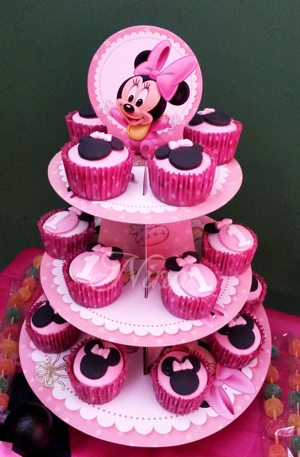 Nina By Lady Temática Minnie Bebé Cupcakes Decoradas Con