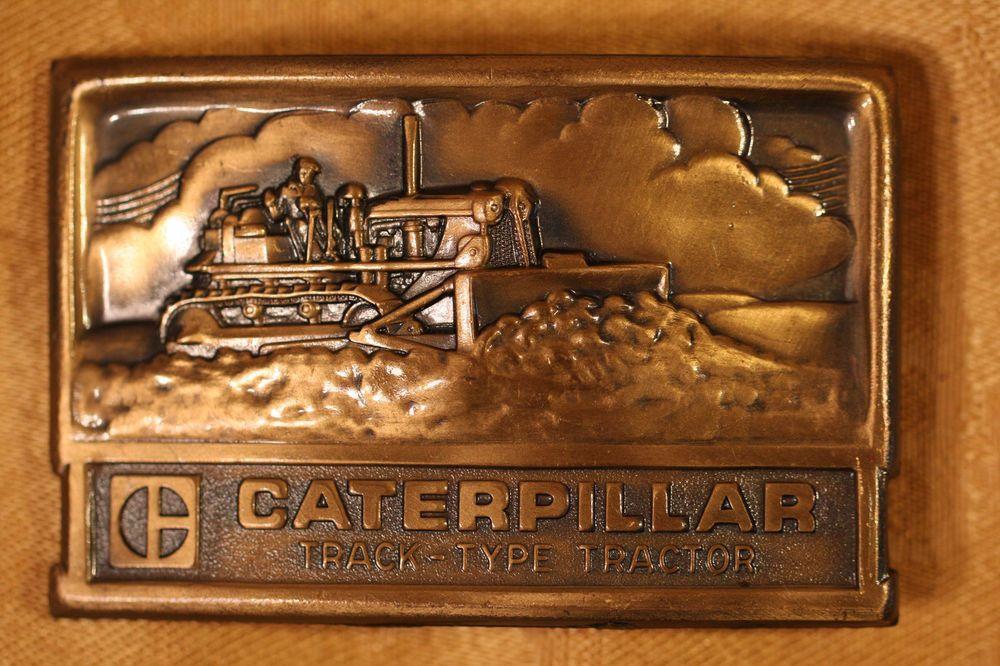 Vintage Caterpillar Belt Buckle Track-Type Tractor