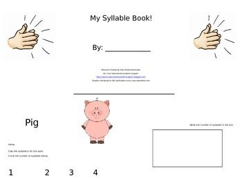 Observe the picture, clap the syllables, circle and write the number of syllables! 16 page booklet! :o)