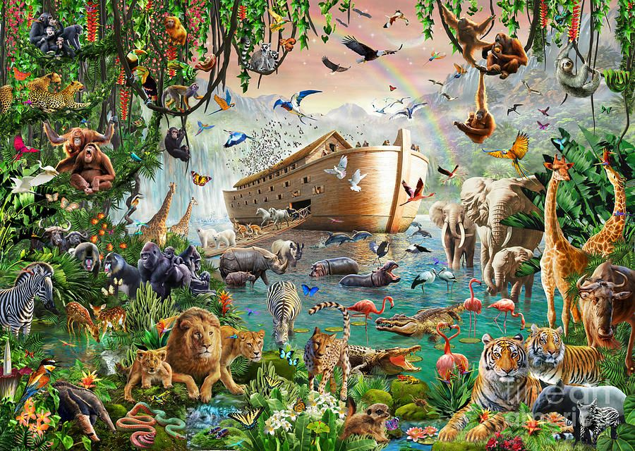 Noah S Ark Variant 1 By Mgl Meiklejohn Graphics Licensing Noahs Ark Poster Prints Painting