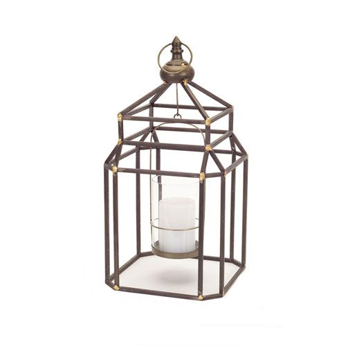 Brown and Gold Hanging Lantern