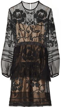 Alberta Ferretti Lace and chiffon-trimmed silk-macramé dress on shopstyle.co.uk