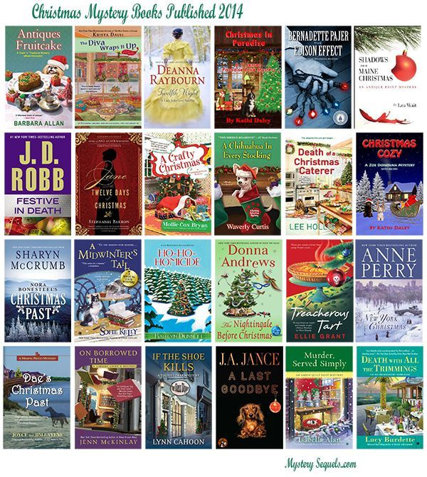 This year we have seen several Christmas mysteries, and I have put together a list with all the books that I am aware of. So below is the list of Christmas mystery books for 2014.