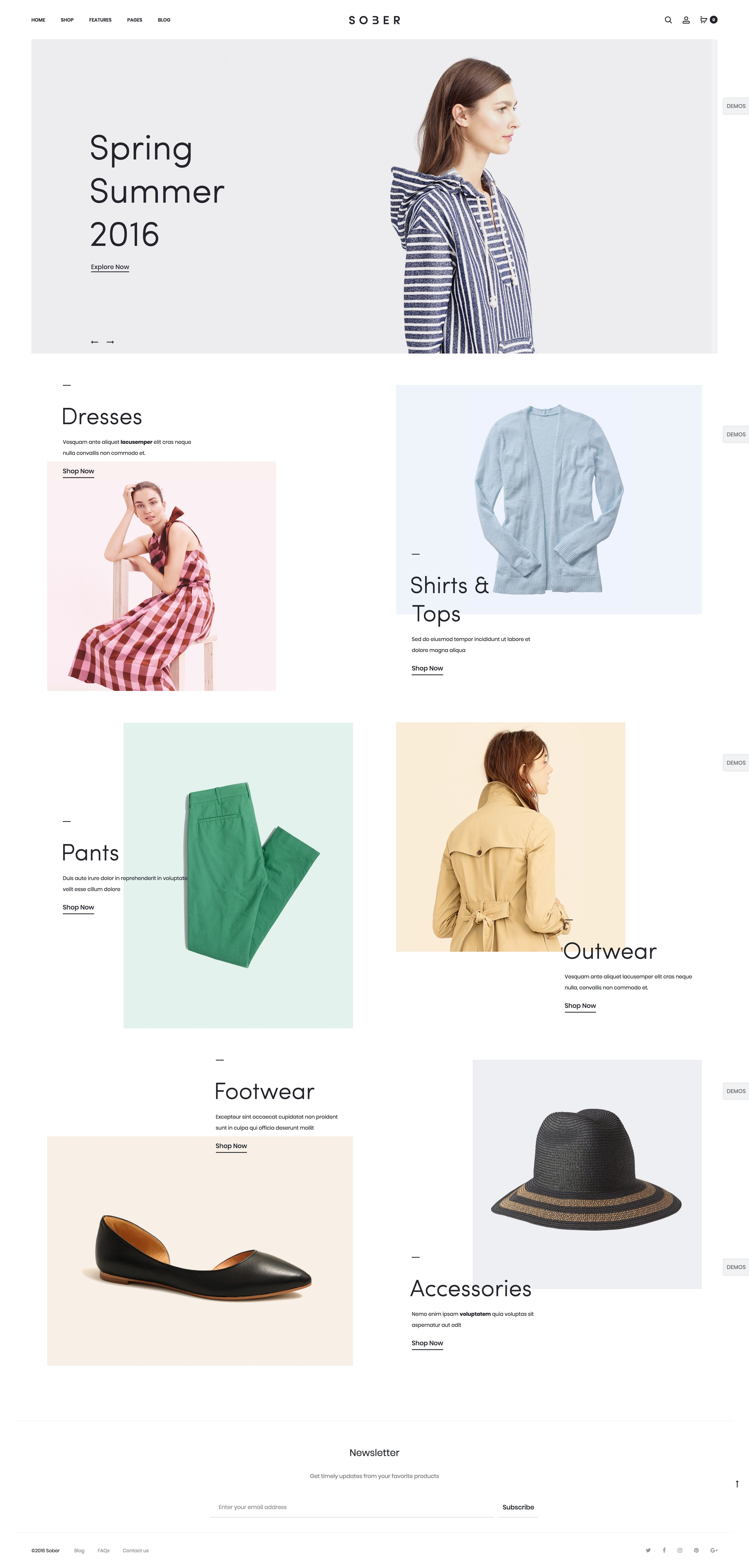 74a6f8a6c0e Fashion Website Layout for Shopping Online. Ecommerce Template. WordPress  WooCommerce Theme. Clothing or Apparel Store. Creative
