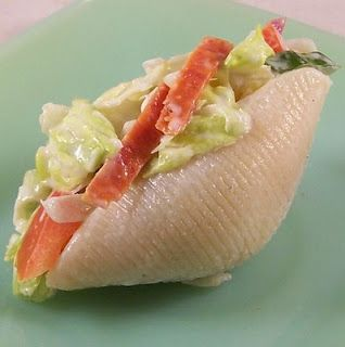 Salad Shells...what a cool idea for a party!