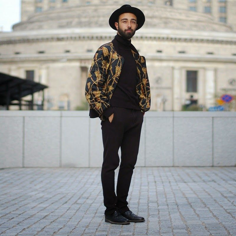 Pin By Lookastic On Chinos Black Chinos Bomber Jacket