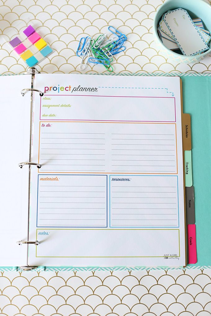 Mini Happy Planner Dividers