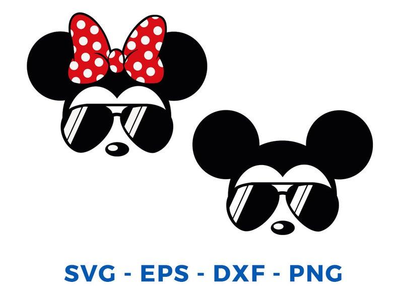 Minnie Mouse svg sunglasses Disney Minnie Mouse sunglasses cricut silhouette svg file instant download minnie mouse head svg file