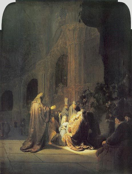 Rembrandt - Simeon in Temple