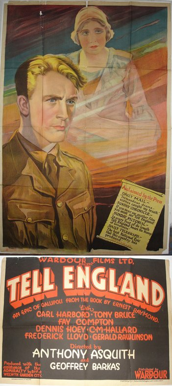 Tell England 1931 Dvd Dvdr Directors Anthony Asquith Geoffrey Barkas Writers Anthony Asquith Screenplay A P Herbert Ad In 2020 Drama Film Film Foreign Film