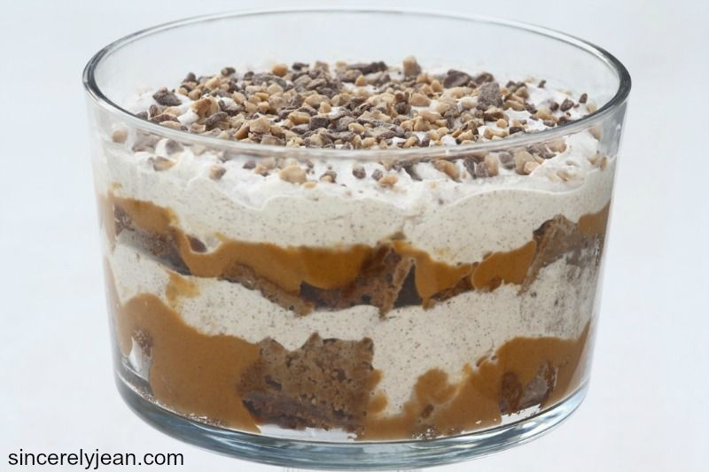 Pumpkin pudding trifle