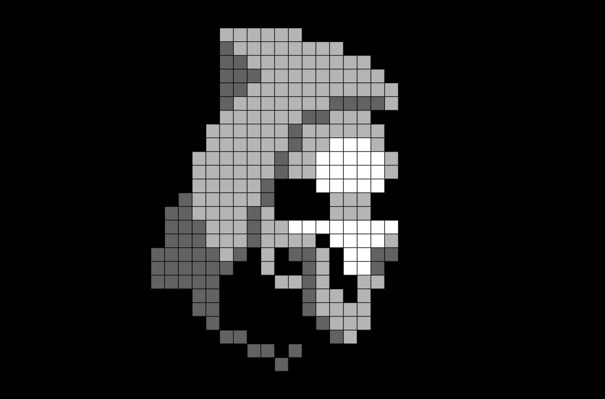 Overwatch Reaper Pixel Art Pixel Art Grid Pixel Art Cool
