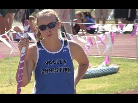 17-year-old blind pole vaulter Aria Ottmueller is competing in the Arizona State Championships today
