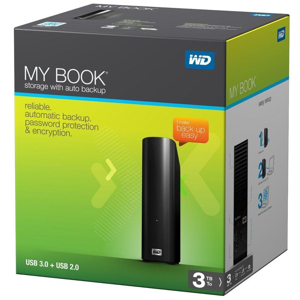 Western Digital My Book Wd 3tb Hdd Wdbacw0030hbk 01 3tb Hard Drive Usb 3 0 External Hard Drive Book Essentials Usb