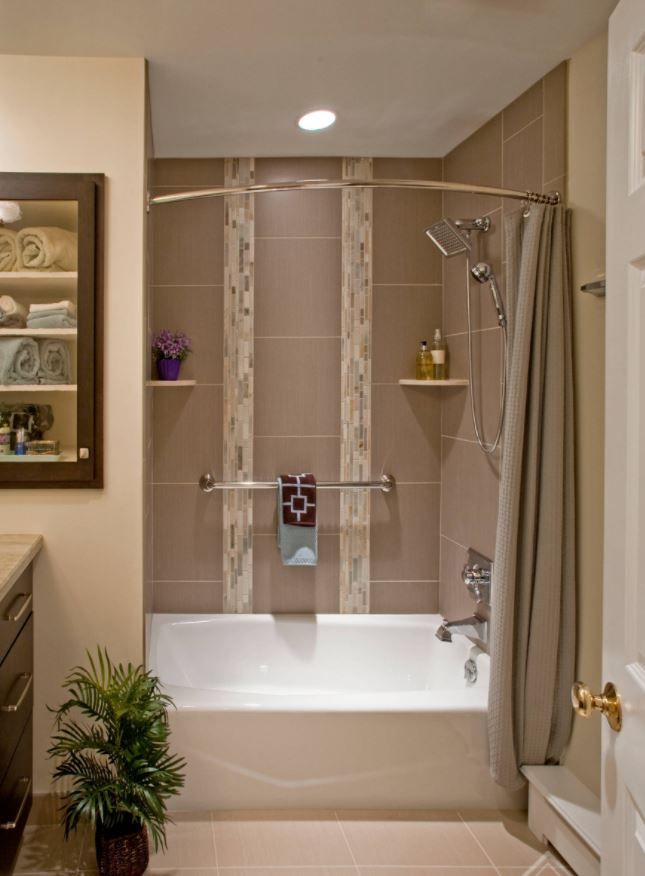 The Arista Bath Curved Shower Curtain Rod Curves Out At Its Center