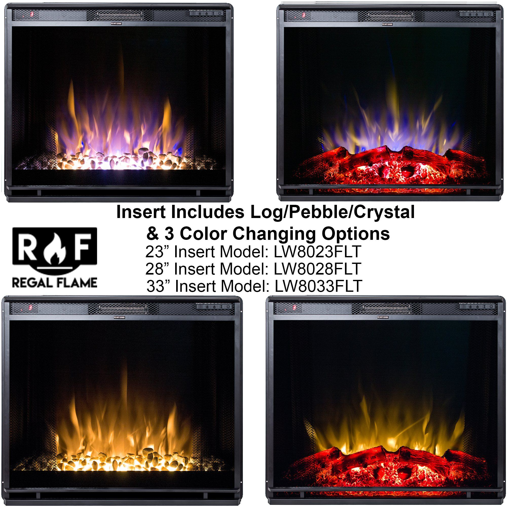 Regal Flame 23 Flat Ventless Heater Electric Fireplace Insert