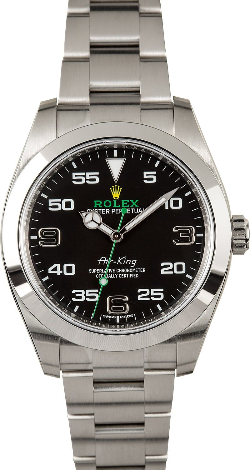 PreOwned Rolex AirKing 116900 with Arabic Markers Rolex