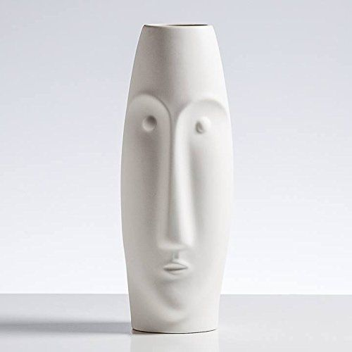 Litho 16 Ceramic Vase Tall Matte White Ceramic Vase Tall Matte