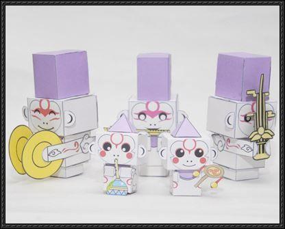 Okami - Sakigami and Tsutagami Cube Craft Paper Toys Free Download