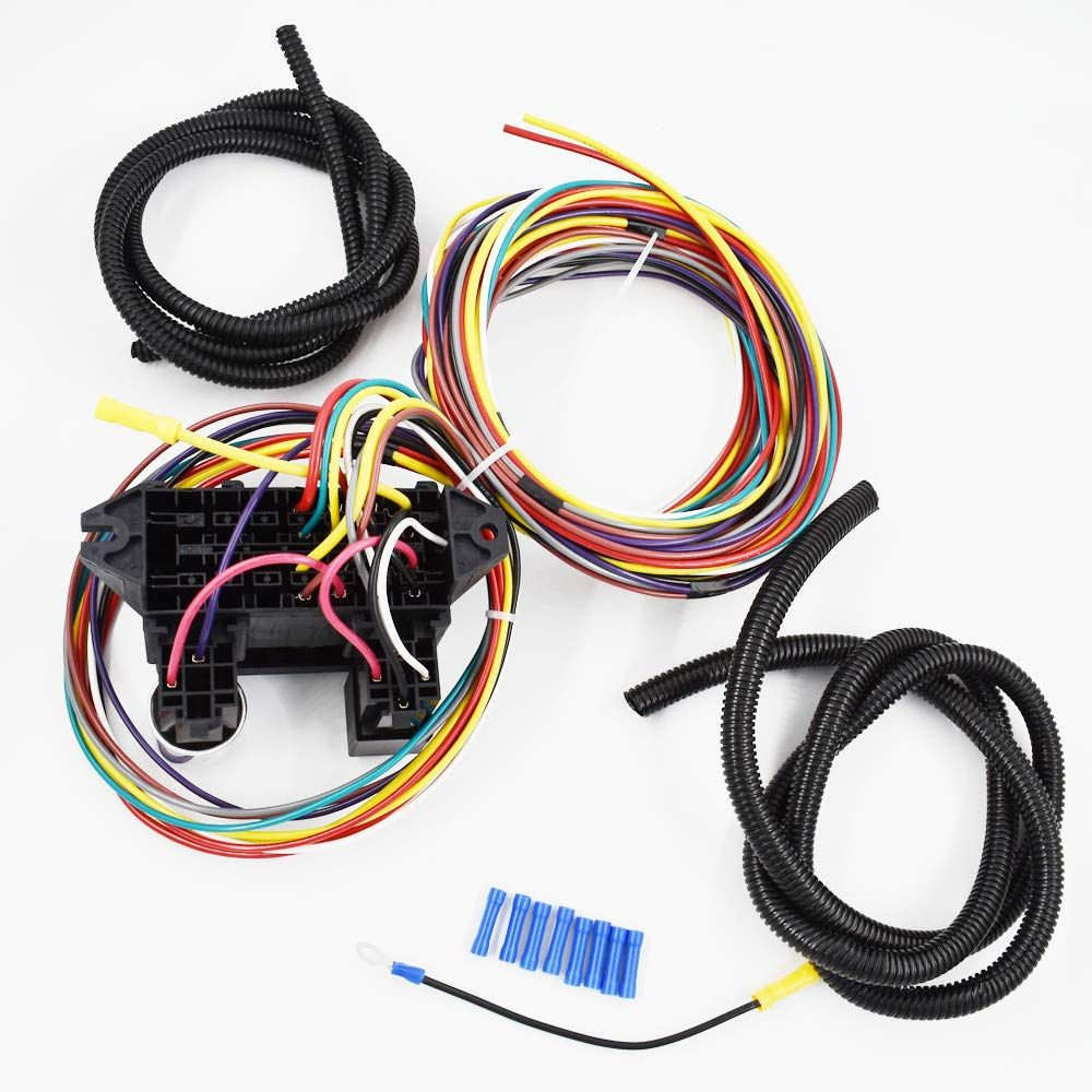 Labwork Parts New 8 Circuit Universal Wire Harness Muscle Car Hot