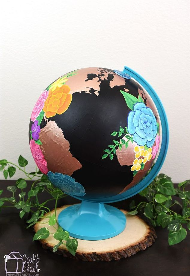 Altered World Globe Art, Chalkboard Paint, Crafts, Home Decor, Painting