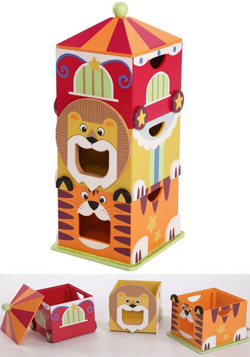 Stacked Storage Wagon For Storage Via Cirkus Toy Storage Kids Storage Modern Toys