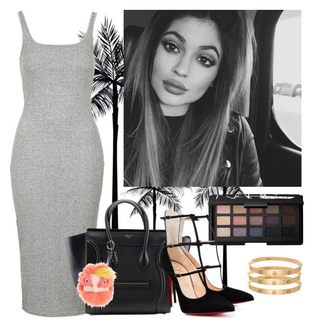 """""""Summer Kylie"""" by juliapharris97 ❤ liked on Polyvore featuring Topshop, Fendi and NARS Cosmetics"""
