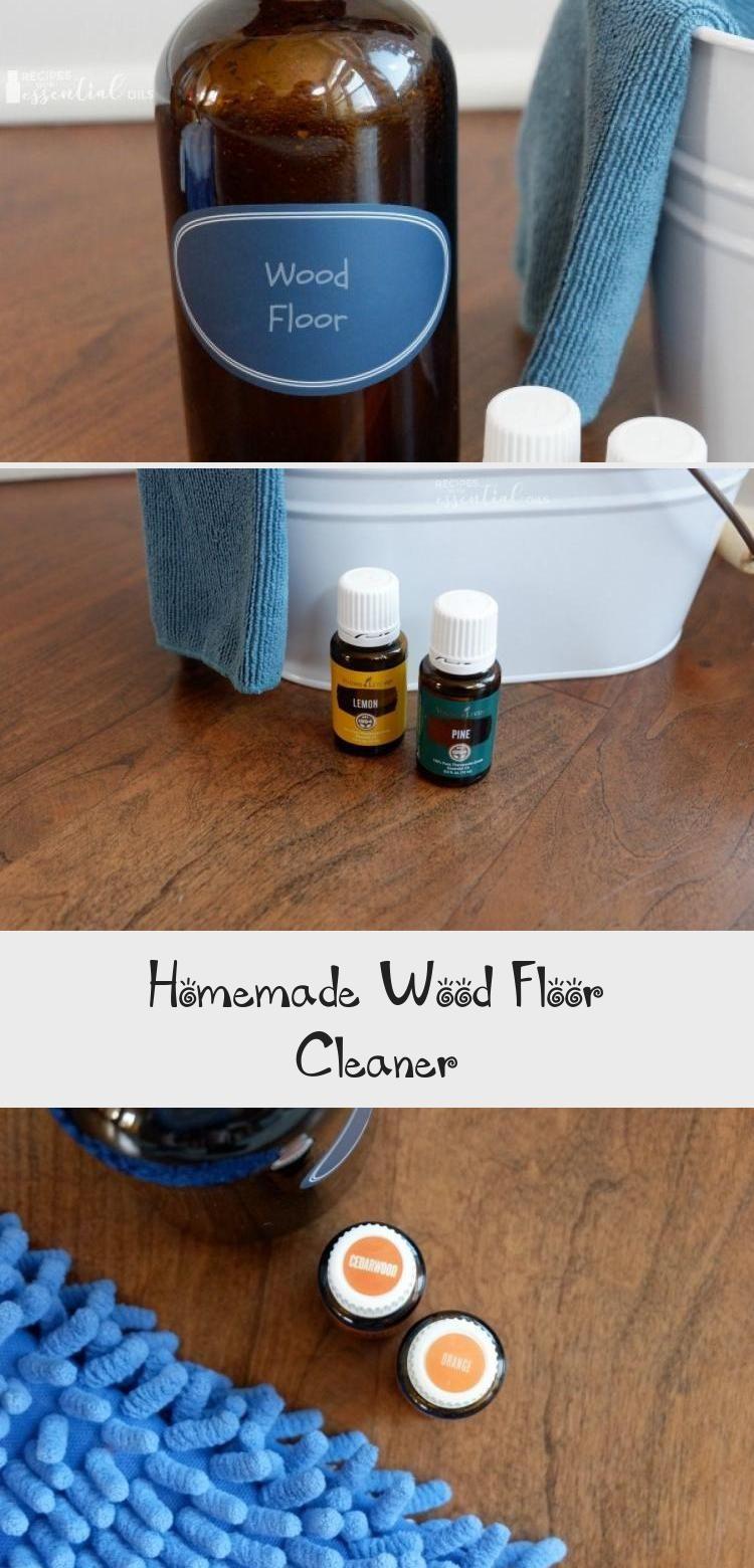 Allnatural wood floor cleaner recipe using essential oils