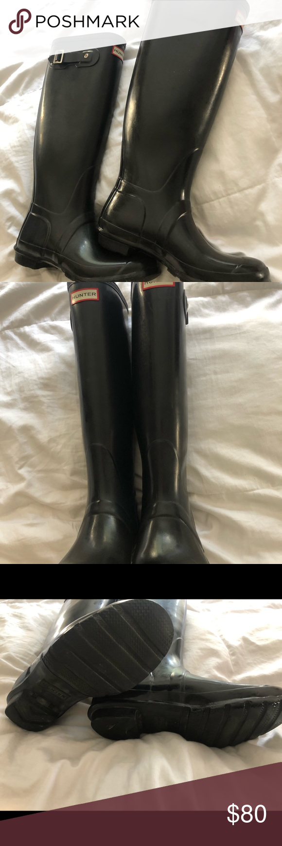 HUNTER BOOTS ADORABLE Hunter Boots, fit like a 8/9 good condition! Some wear but overall good condition Hunter Shoes Winter & Rain Boots #myposhpicks