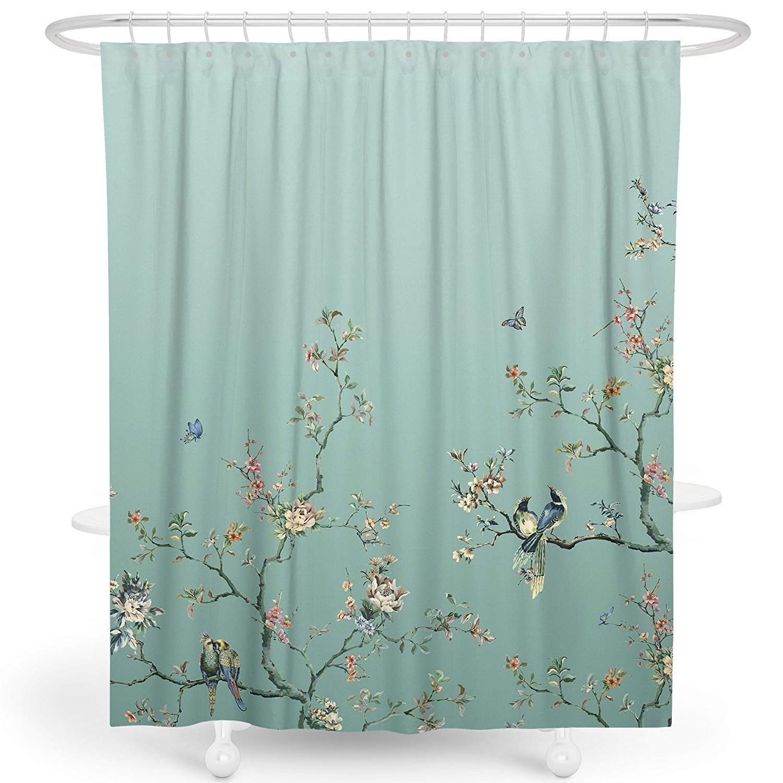 Amazon Com Livetty Printing Shower Curtain Bathroom Decor