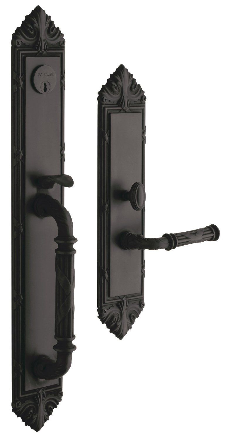 Amazon.com: Baldwin Hardware Edinburgh Set Trim Front Door Handle: Home  Improvement