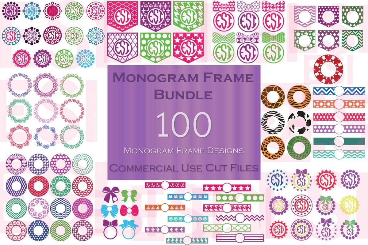 Monogram Frame Bundle 100 Frames For Monogramming Monogram Frame Monogram Monogram Design