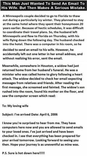 This #Man Just Wanted To Send An Email To His #Wife But Then Makes A Serious Mistake.