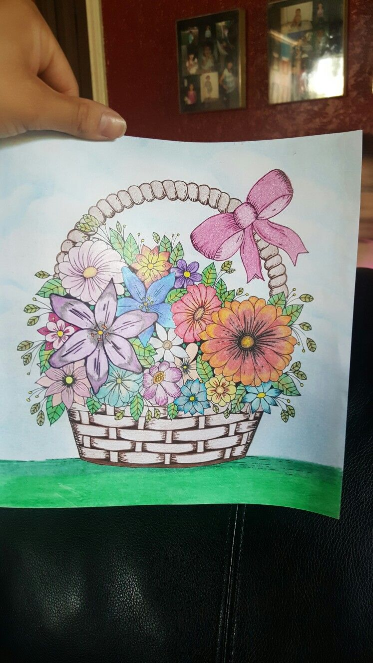 Magic Path Coloring Book Flower Basket Magic Path Coloring Book