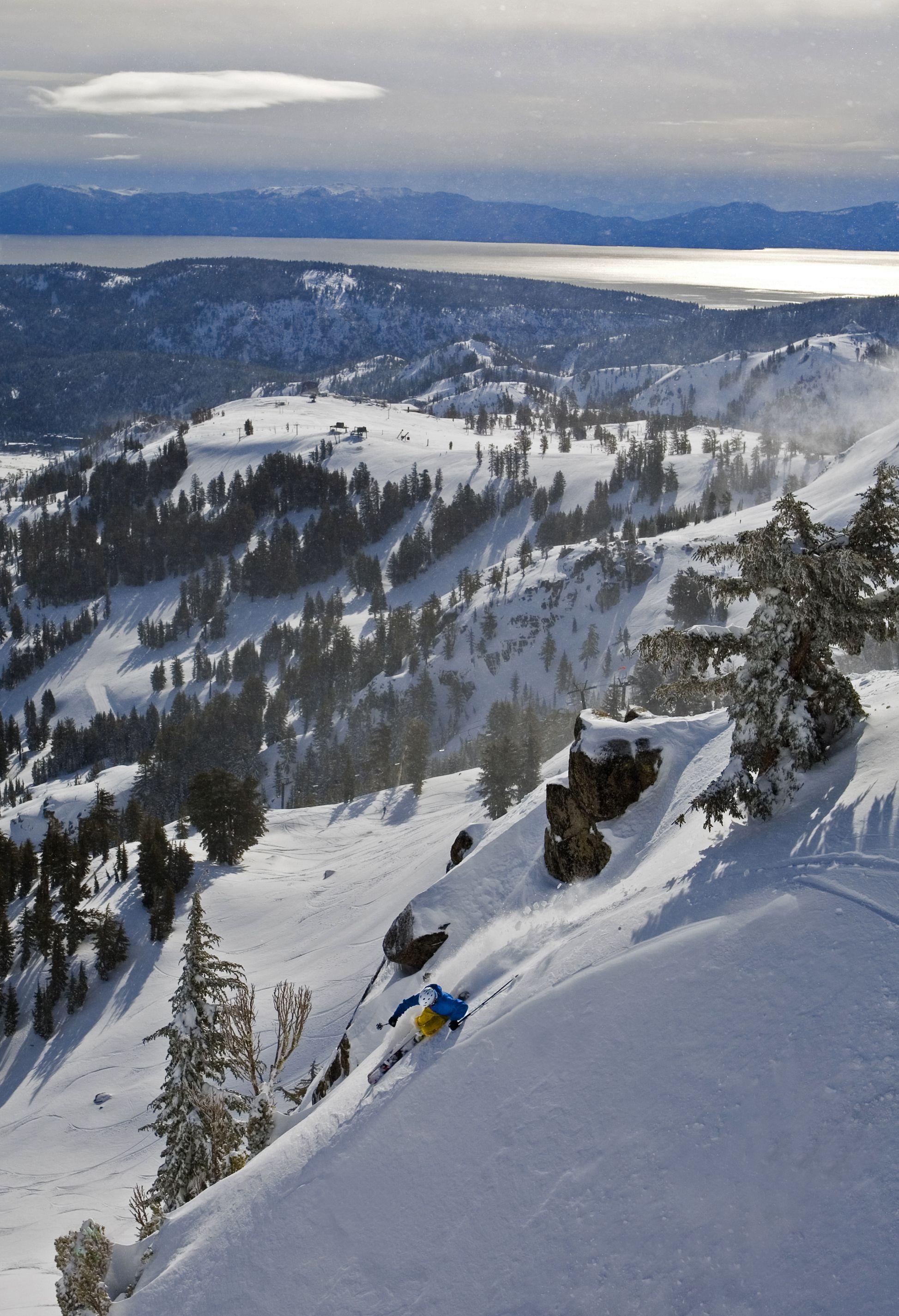 Lake Tahoe Winter Wallpaper Desktop Background: Ski & Snowboard At Squaw Valley, One Of Lake Tahoe's