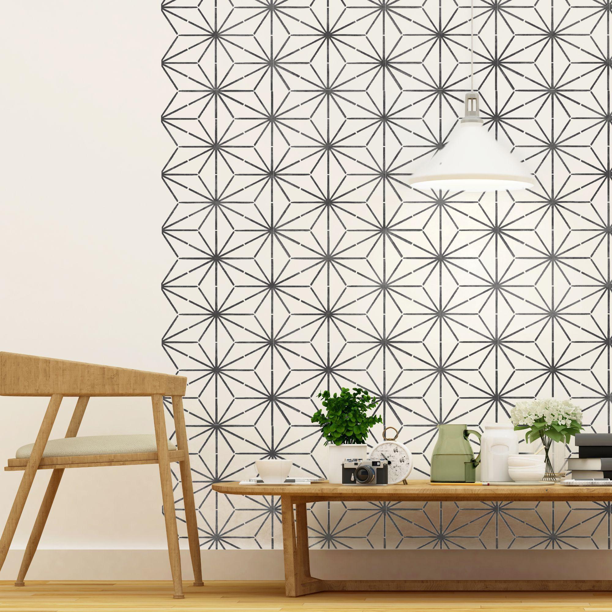 Image Result For Geometric Stencils Stencil Furniture Geometric Stencil Stenciled Floor