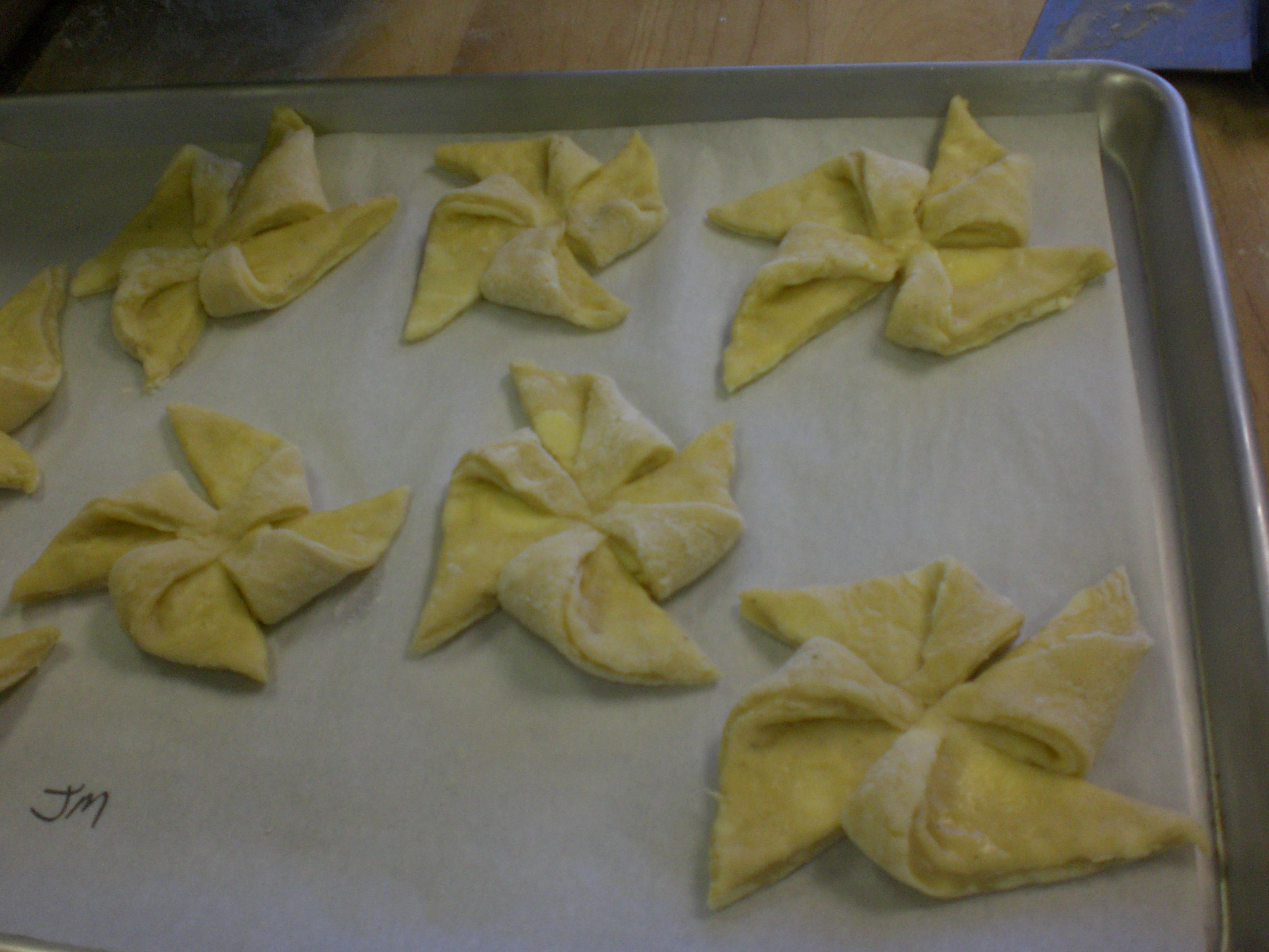 Pinwheel danish prior to baking