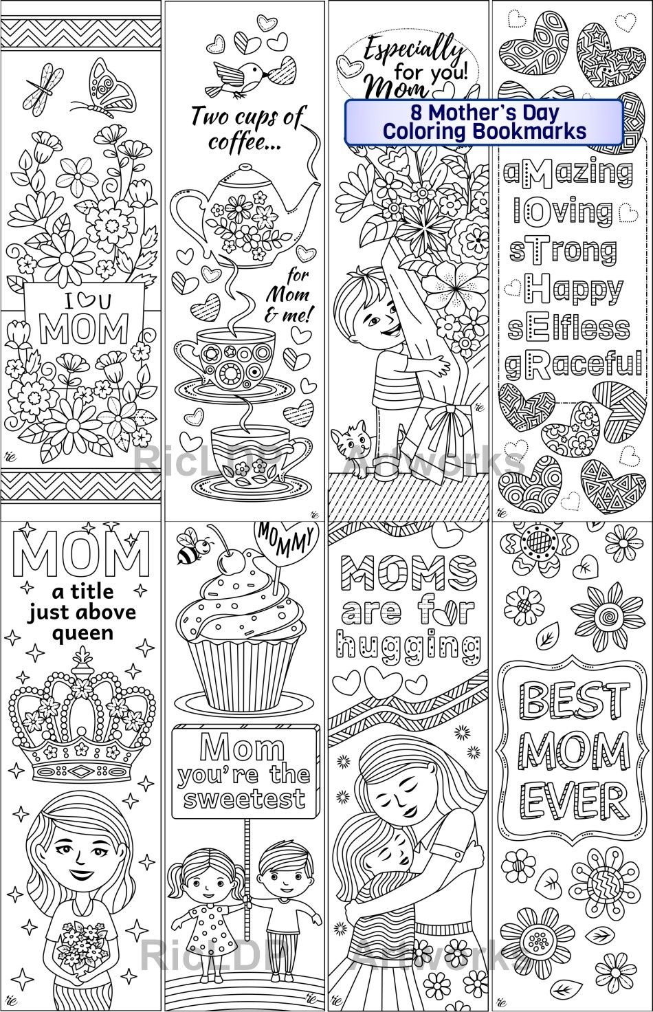 free printable bookmarks for mother's day