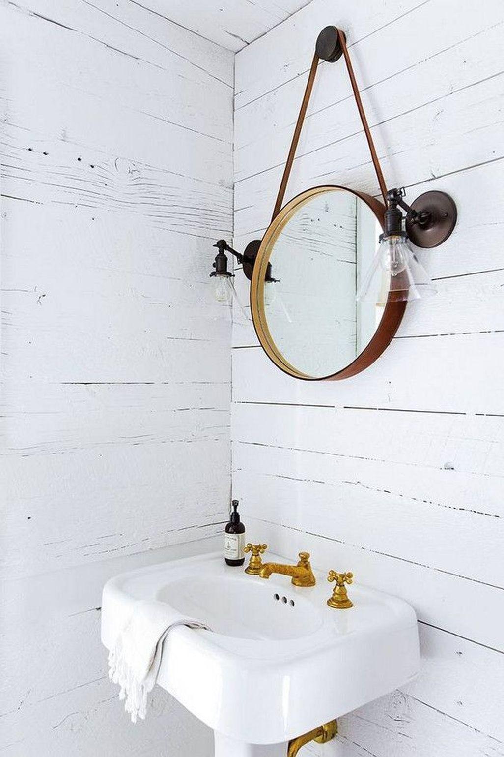 45 Ispiring Rustic Small Bathroom Wood Decor Design ...