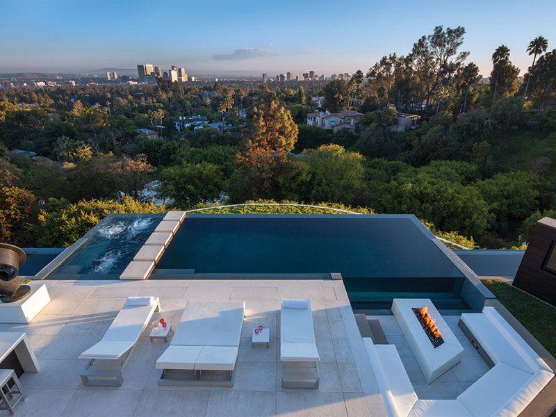 villa-con-piscina-Beverly-Hillsjpg 800×600 pixels Architecture - eine feuerstelle am pool