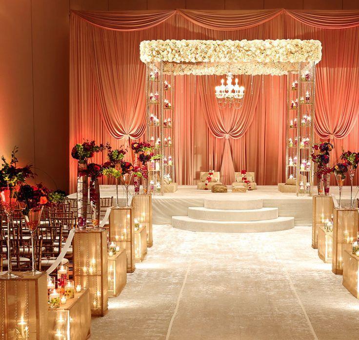 Soma sengupta mandaps flowers candlelight indian for Room decor union city