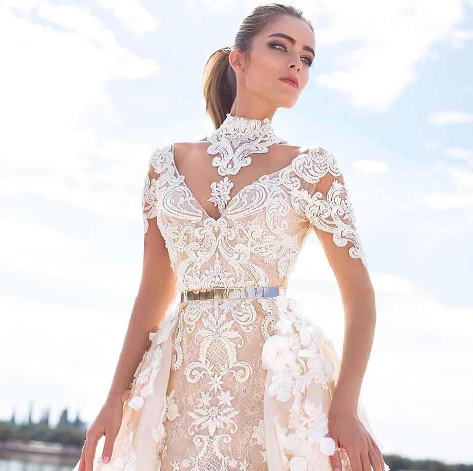 Cheap latest stunning overskirts wedding dresses d floral