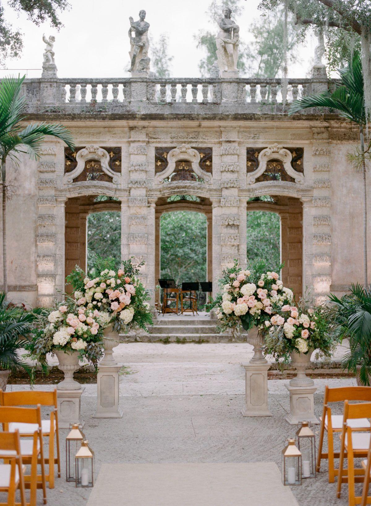 Italian Inspired Miami Wedding At Vizcaya Museum Gardens Vizcaya Wedding Miami Wedding Museum Wedding Ceremony