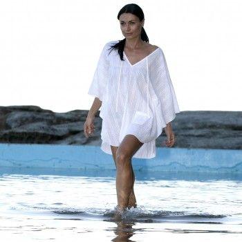 witte strandtuniek