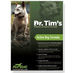 Dr Tims All Natural Pet Food Formula Pursuit For Active Dogs