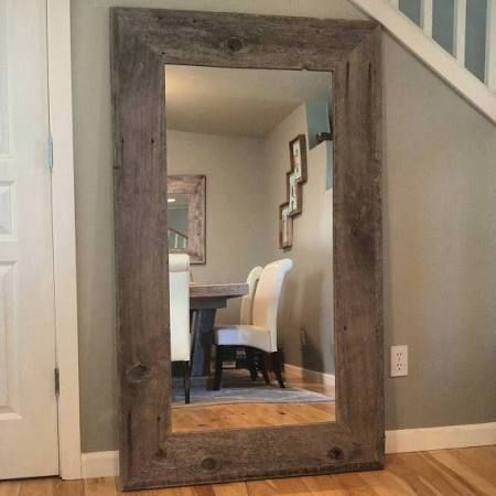 Wooden Mirror Stand Designs : Large rustic wooden stand up mirror google search diy stand