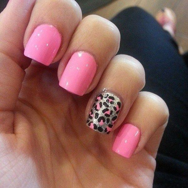 50 Stylish Leopard And Cheetah Nail Designs Leopard Print Nails