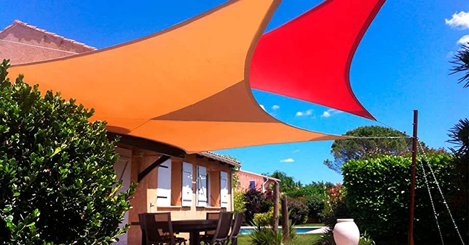 sun shade sail triangle canopy
