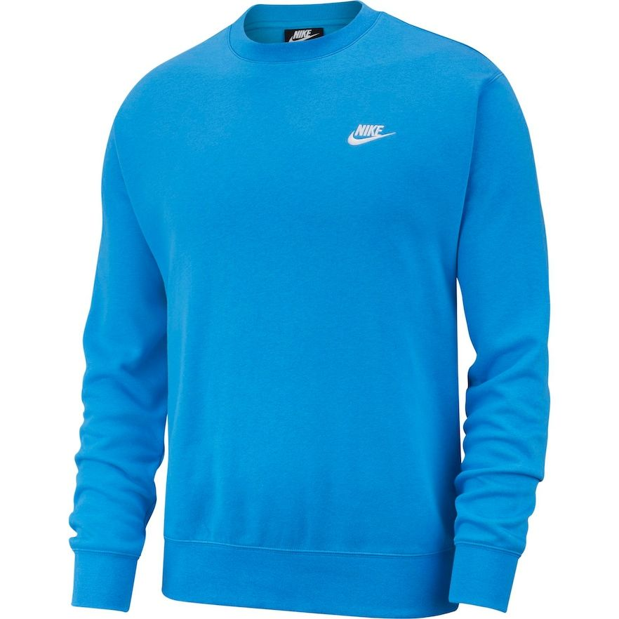 Men's Nike Club Fleece Crew, Size: XL, Brt Blue in 2019