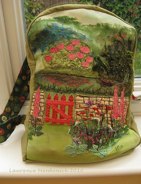 Oh my goodness...this is PERFECT! backpack- English cottage | Flickr